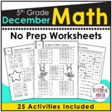 December Math Worksheets 5th Grade   Christmas Math Worksh
