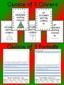 December NO PREP Monthly Journal Prompts Package Christmas Hanukkah 35 prompts