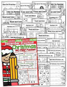 December NO PREP Packet (Preschool)