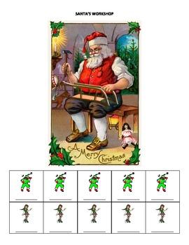 December Name Game for Articulation and Language: Santa's Workshop
