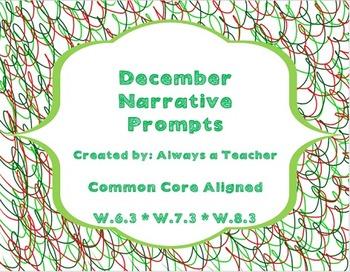 December Narrative Prompts