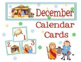 December Nativty Calendar Cards