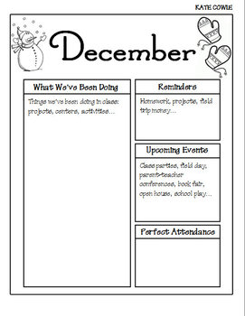 December Newsletter-Editable!