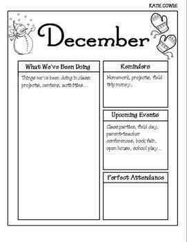 December Newsletter-Editable!