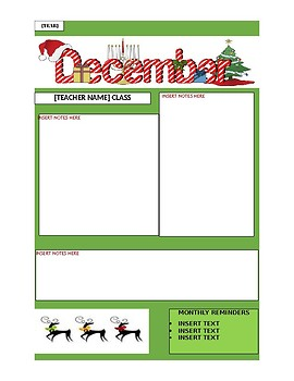 December newsletter template by leeanne radish tpt december newsletter template maxwellsz