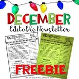 December Newsletter Template FREEBIE