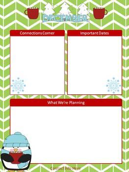 December Newsletter Templates