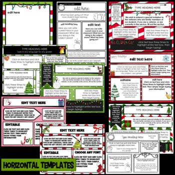 December Newsletter Templates ~ Editable