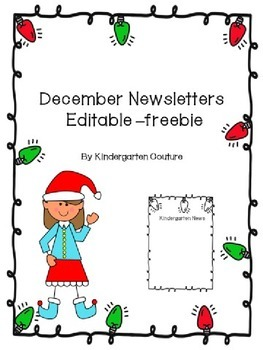 December Newsletters Editable -Freebie
