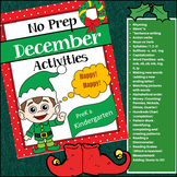 December No-Prep Activities for PreK - Kindergarten