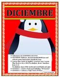 Calendario de Diciembre-La Fecha/Números/ Navidad- Christmas Theme