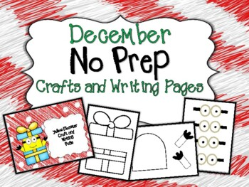 December No Prep Crafts and Writing Pages