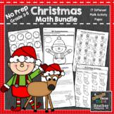 December No Prep Holiday Math Packet: Christmas