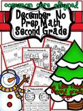 Christmas December No Prep Math Packet (2nd Grade)