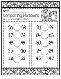 December No Prep Math Printables