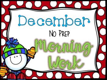 December No Prep Morning Work