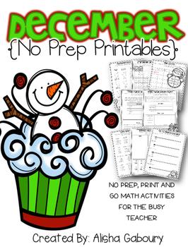 December No Prep Printables