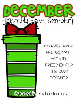 December No Prep Printables [Free Sampler]