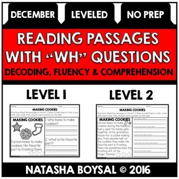 December- No Prep Reading Comprehension