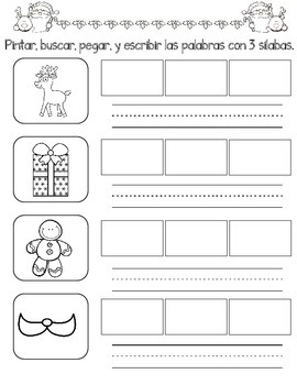 December No Prep Spanish Literacy Fun:  Kinder and First Grade