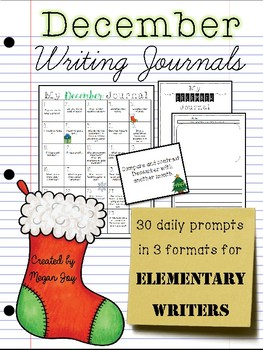December No Prep Writing Journal for Elementary Writers