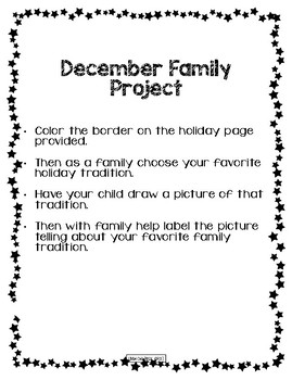 December Not Your Average Homework Packet
