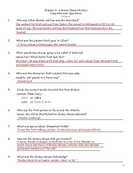 Guided Reading: Who Was Walt Disney- Common Core, No Prep, Printables