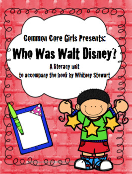 Guided Reading: Who Was Walt Disney? Common Core, No Prep, Printables