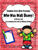 Guided Reading: Who Was Walt Disney? Common Core, No Prep,