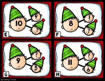 December Number Bonds- Write the Room