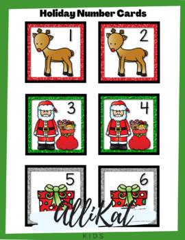 December Number Cards
