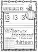 December Number Printables