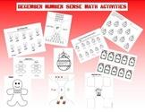 December Number Sense Math Activities