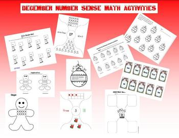 December Number Sense Math Activities