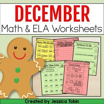 Christmas Math and ELA Printables