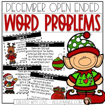 December Open-Ended Word Problems