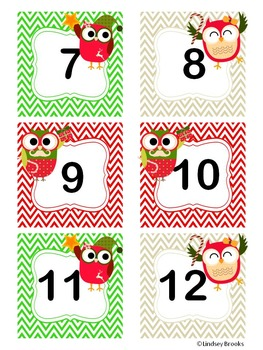 December Owl Calendar Cards and Headers