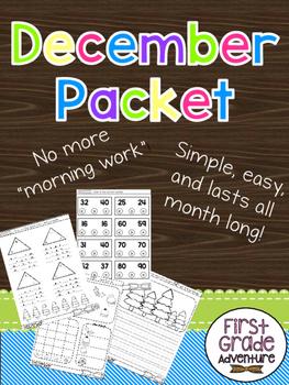 December Packet {Morning Work for ALL of December!}