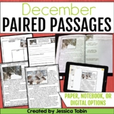 Paired Passages December- Comprehension Google Classroom Distance Learning