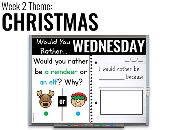 December Paperless 1st & 2nd Grade Morning Work {Whiteboard-based & EDITABLE}