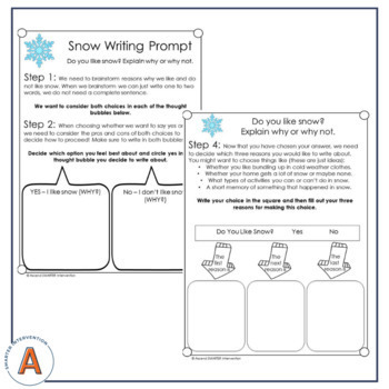 December Paragraph Writing - Graphic Organization Strategies