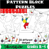 December Pattern Block Puzzles