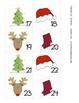 December Pattern Calendar Numbers