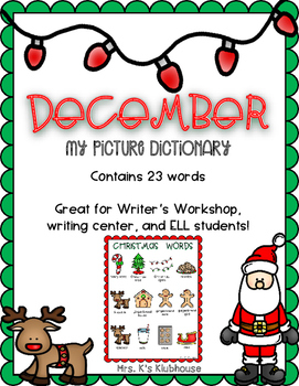 December Picture Dictionary