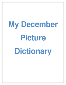 December Picture Dictionary cover page