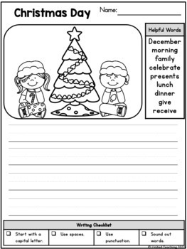 December Picture Prompts for Writing