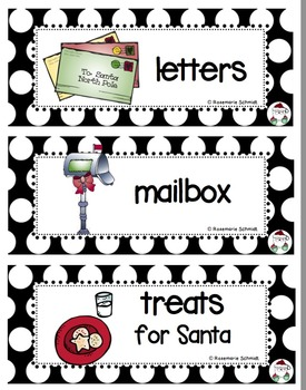 December Picture Word Cards K-3