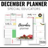 December Planner for Special Educators