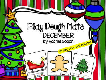December Play Dough Mats and Writing