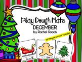 December Play Dough Mats and Writing